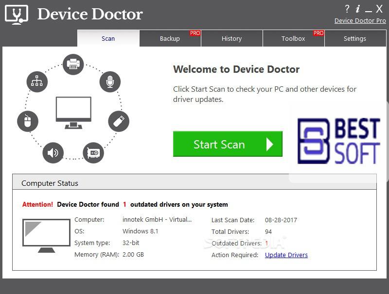 تحميل برنامج التعريفات Device doctor تحديث تعريفات جهاز الكمبيوتر
