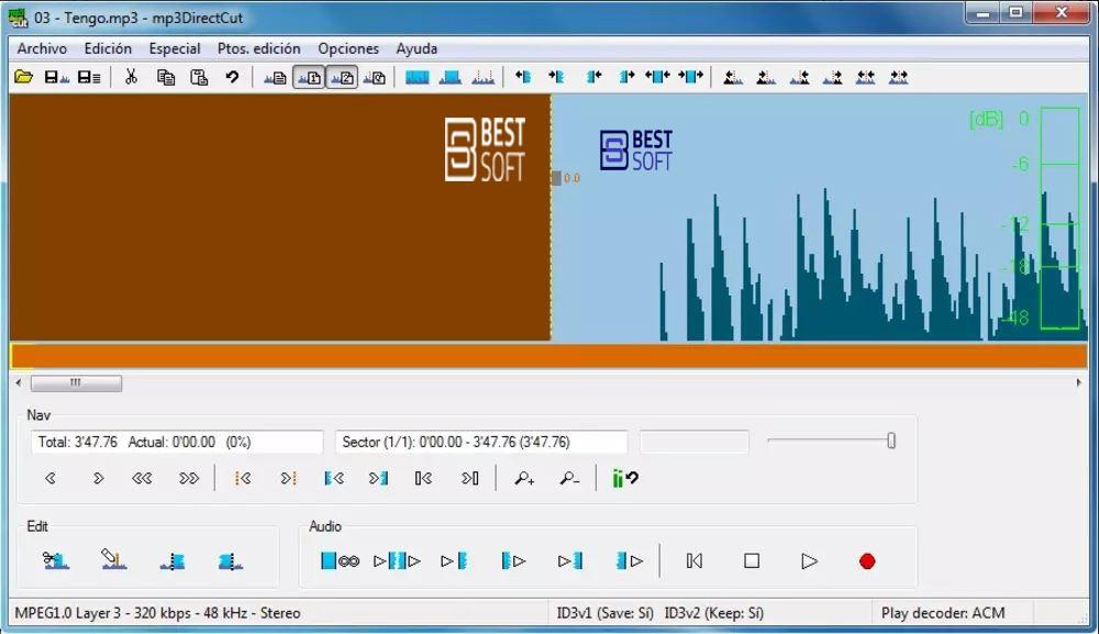 mp3DirectCut-برامج تقطيع وقص الملفات الصوتية